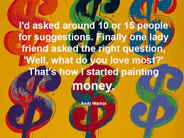 no andy warhol art quote of the day