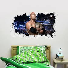 Wwe Wall Sticker John Cena Smashed Graphic Decal Mural Vinyl Bedroom Kids 19 99 Picclick Uk