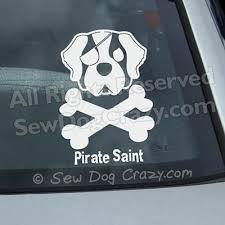 Pirate Saint Bernard Decal Sew Dog Crazy