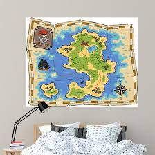 Treasure Map Wall Decal Wallmonkeys Com