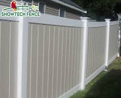 China Cheap Pvc Tan Color 6 H 8 W Vinyl Privacy Garden Fence Panels Photos Pictures Made In China Com