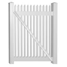 Weatherables Hartford 4 Ft W X 4 Ft H White Vinyl Picket Fence Gate Swpi 1 5nr 4x48 The Home Depot