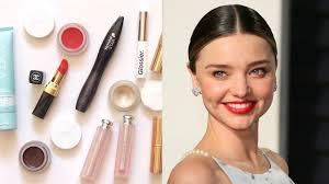 miranda kerr makeup bag her favourite