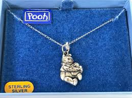 winnie the pooh sterling silver pendant