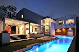simple beautiful house with pool