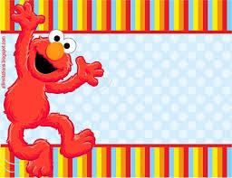 Invitacion Cumpleanos Elmo Invitaciones Elmo Invitaciones De