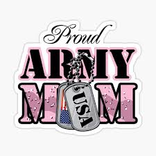 Army Mom Stickers Redbubble