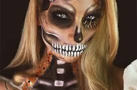 steunk skull halloween makeup idea
