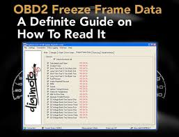 obd2 freeze frame data what is it how