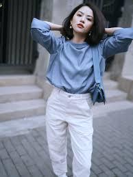 Gợi ý mặc đẹp với 12 set đồ màu xanh thiên thanh dành cho nàng công sở
