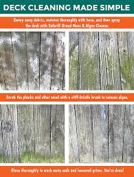 How To Remove Algae From A Wood Deck