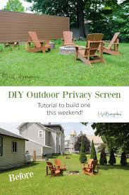 How To Build A Diy Outdoor Privacy Screen H2obungalow