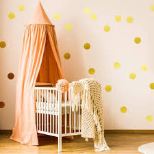 Easy Peel Stick Gold Wall Decal Dots 2 Inch 200 Decals Safe On Walls Ebay