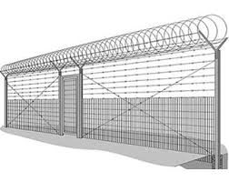 The Use Of Spiral Concertina Coil Barrier To Strengthen The Barbed Wire Concertina Wire Security Fence Fence Design