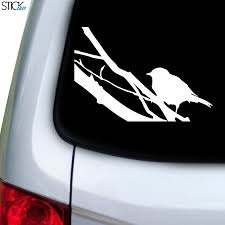Bird On Branch Large Decal For Car Window Stickany