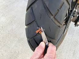 repair a less motorcycle tire