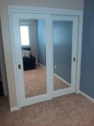 mirrored closet doors