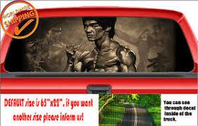 W480 Bruce Lee Kung Fu Legacy Dragon Perforated Car Decal Sticker Rear Window Ebay