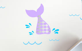 1 Mermaid Tail Wall Decals Removable Wall Stickers Pepper Decals On Madeit