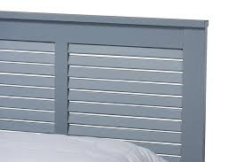 Adela Modern And Contemporary Grey Finished Wood Queen Size Platform Bed -  1StopBedrooms.