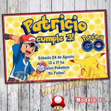 Invitaciones Pokemon Pokebolas Personalizadas Impresas 150 00