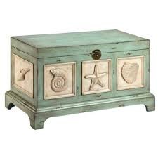 teal coffee table trunk rectangle wood