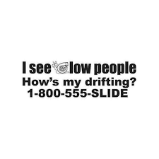 I See Low People Jdm Car Decal Sticker