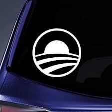 Amazon Com Bargain Max Decals Barack Obama President Hope Sticker Decal Notebook Car Laptop 5 White Automotive