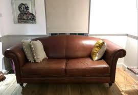 laura ashley leather gloucester sofa