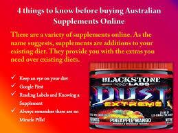 australian supplements