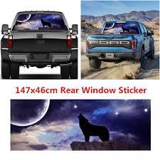Sponsored Ebay 1pcs Wolf Pattern Car Truck Rear Window Graphic Decal Tint Sticker Accessories Rear Window Cars Trucks Car