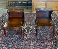 post 1950 leather top coffee table