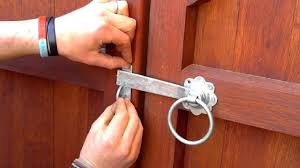 How To Fit A Ring Gate Latch To A Wooden Gate Youtube