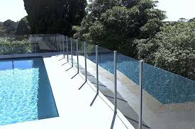 glass pool fence and railing systems