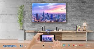 connect your smartphone to skyworth tv