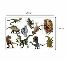 Window Wall Decal Dinosaur T Rex Vs Triceratops Jurassic World Removable Sticker