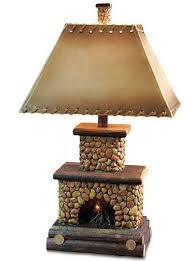 stone fireplace lamp lamp table lamp