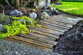 pallet wood walkway 2 years later did
