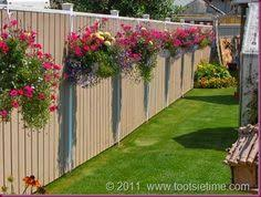 8 Hanging Baskets On A Fence Ideas Outdoor Gardens Patio Garden Plants