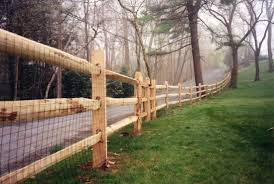 Post And Rail Cedar Fence