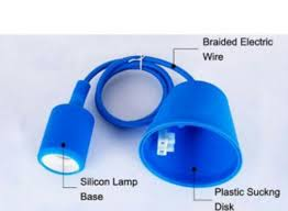 pendant lamp holder e27 with pvc wi