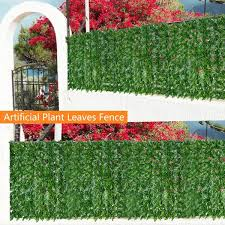 1m 3m Wall Artificial Leaf Hedge Screening Roll Garden Fence Balcony Privacy Leaf Hedge For Home Indoor Outdoor Decor Wish