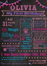 chalkboard sign birthday keepsake diy