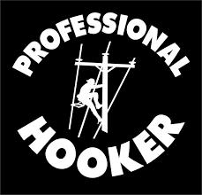 Professional Hooker Lineman Decal