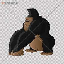 Decal Gorilla Caricature Car Window Jet Ski Size Silverback Kong Strong 30 X 292 Inches Fully Waterproof Printed Vinyl Sticker Check Price Robercefimov