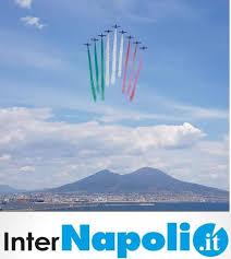 InterNapoli- - Le frecce tricolori su Napoli, uno...