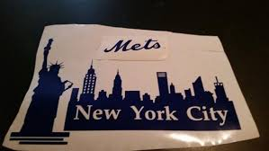 Wall Decal New York Mets New York City New York Skyline Etsy