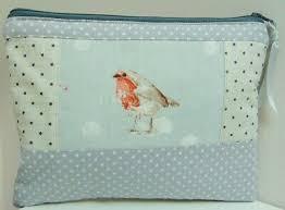 handmade robin makeup bag winter bird