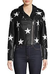 blank nyc star faux leather jacket