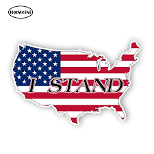 Hotmeini 13cm X 8 5cm I Stand United States American Flag Support Sticker Car Decal Truck Laptop Vinyl Car Stickers Car Stickers Aliexpress